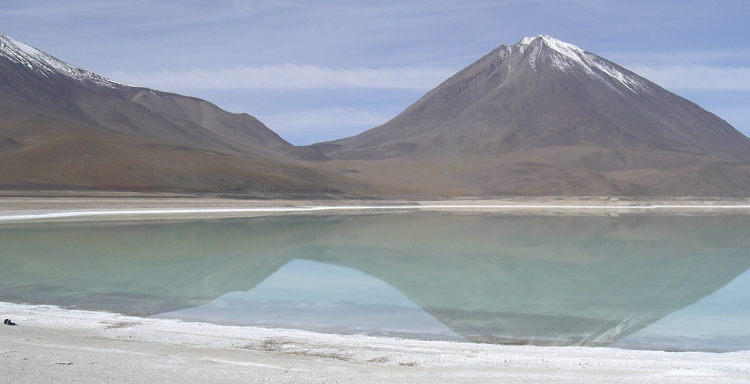 Salt Flats in Uyuni, in the Bolivian Andes